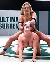 Dia Zerva kicks bigger girls ass and fucks her like a whore.