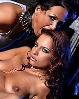 Mandy Bright and Asley in a hot lesbian domination