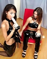 Dildo play between Mistress and sub