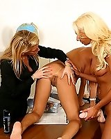 Blonde sluts asshole gets punished